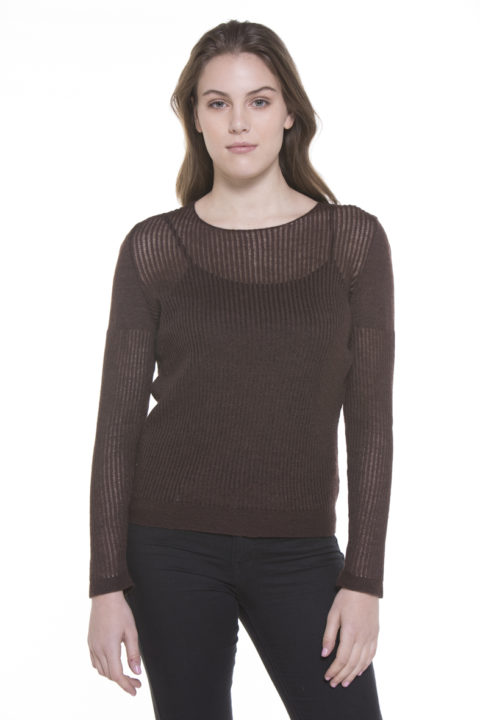 Abi Cashllama & Silk Crew-Neck Sweater