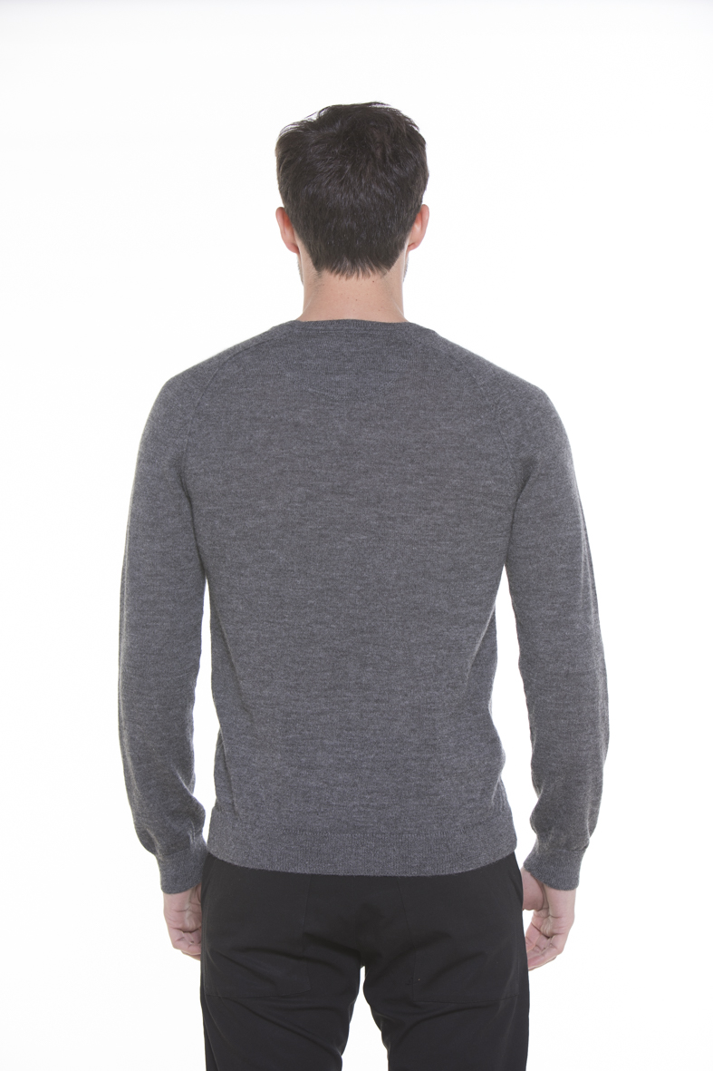 Caleb 100% Cashllama Crew-Neck Light Grey Sweater