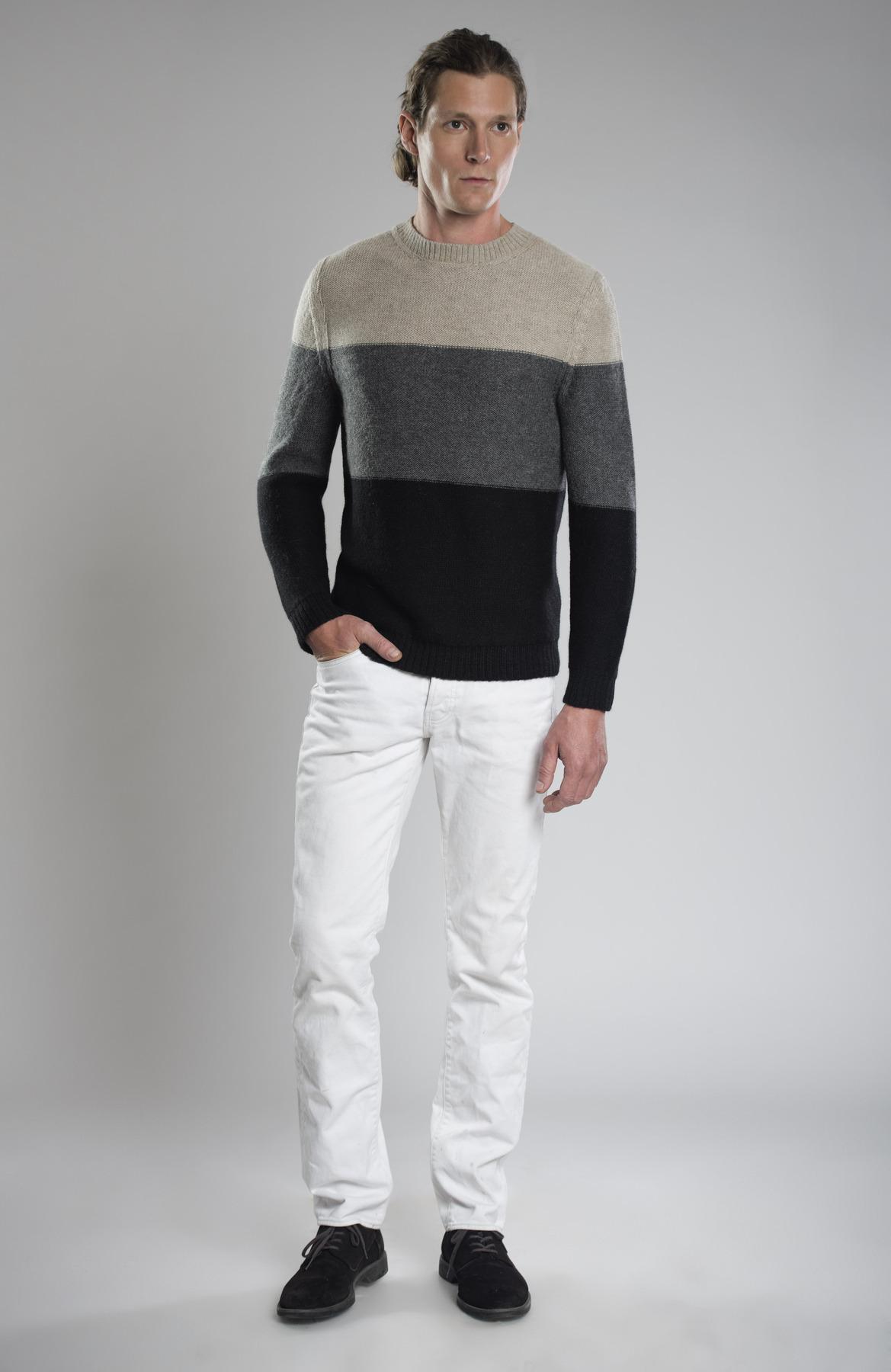 Lucas 100% Baby Llama Grey Sweater