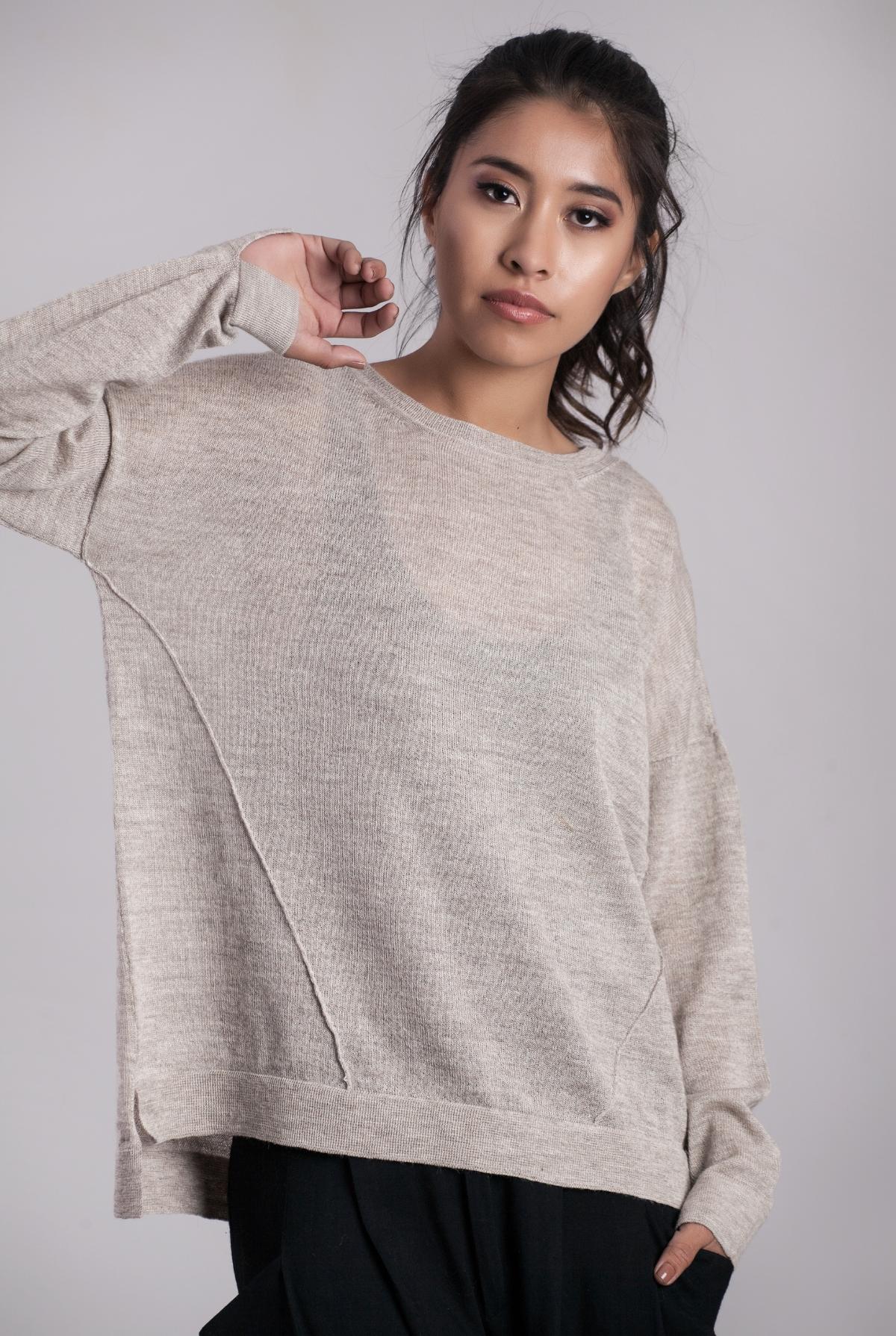Janni Cashllama & Silk Sweater Cloud